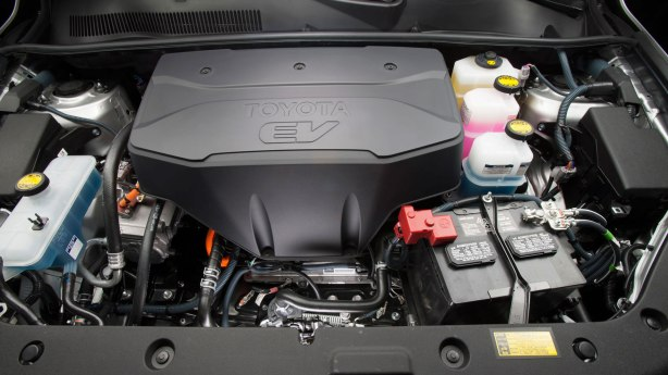 Tesla provides the motor for the 2014 Toyota RAV4 EV.