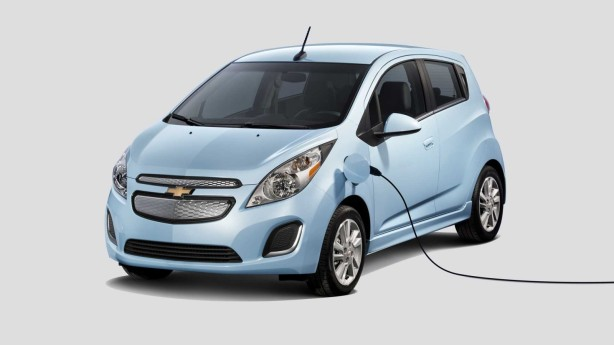 The grille of the Spark EV is sealed off because it doesn't have a conventional engine or radiator anywhere in sight.