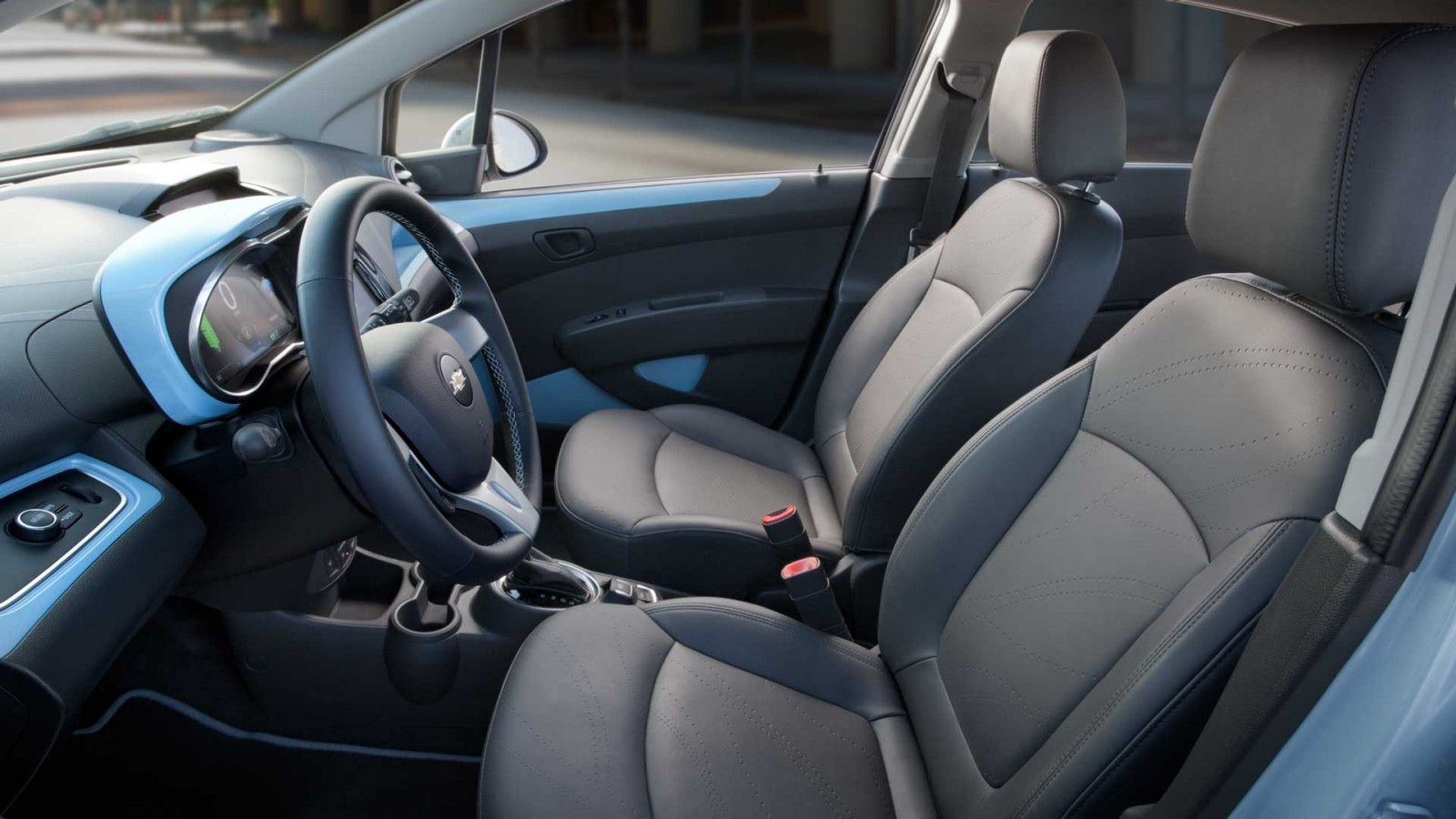 The 2015 Spark EV With The 2LT Trim. The Cloth Is Replaced By The  Leatherette