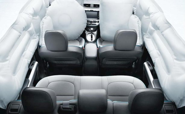 The 2015 Kia Soul is stuffed with tons of supplemental restraint systems - airbags and air curtains surround you.