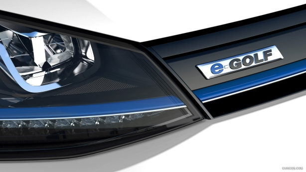 Detail of the grille and headlight.  VW used LEDs for all front lighting.