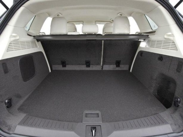 There is plenty of cargo in the MKC. The rear seats split 60/40 and fold nearly flat.