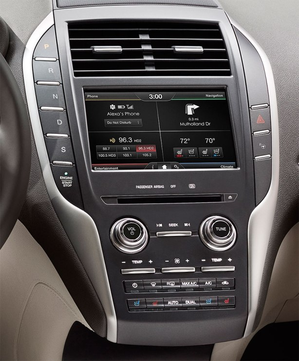 "The touch-screen is large. The new physical knobs and switches are a welcome return to ""analog"" for Lincoln."
