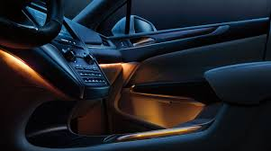LEDs add accent and mood lighting to the interior.  Very nice and easy on the eyes.
