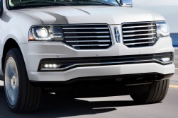 The winged grille was grafted onto the front of a Lincoln Navigator. Not much else was done. It doesn't work as well here.